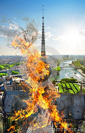 Free Steeple Of Notre Dame Stock Images - 145009094