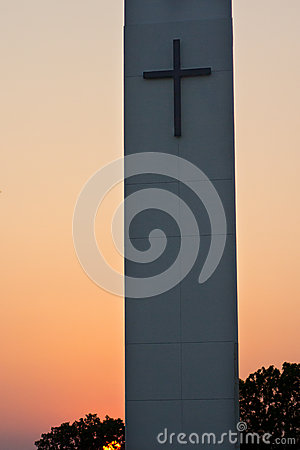 Steeple Sunset