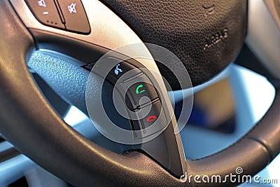 Steering wheel button, voice control