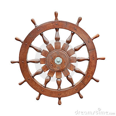 Free Steering Wheel Of Sailing Boat Cutout Stock Image - 9249091