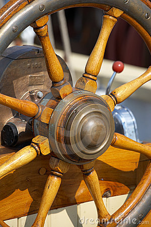 Steering wheel - olds sailing boat
