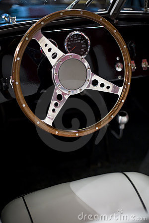 Steering wheel of an oldtimer