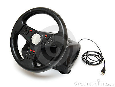 Steering wheel simulator for pc games