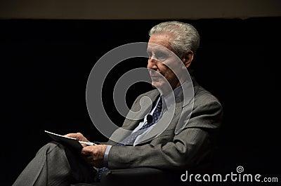 Stefano Rodotà, famous italian jurist Editorial Photo