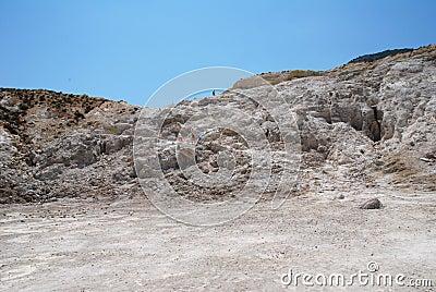 Stefanos volcano, Nisyros Editorial Stock Photo