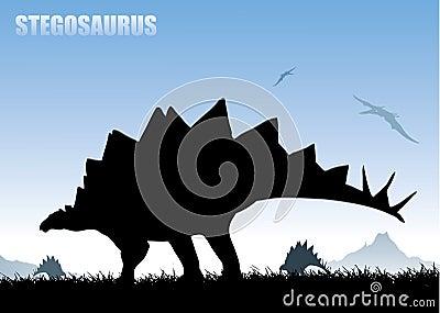 Stegosaurus background
