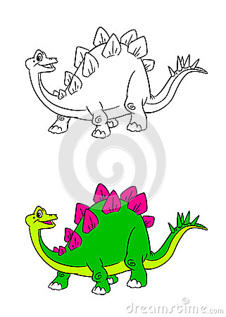 Stegosaurus dinosaur cartoon coloring pages