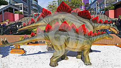 Stegosaurus dinosaurs figures Editorial Stock Photo