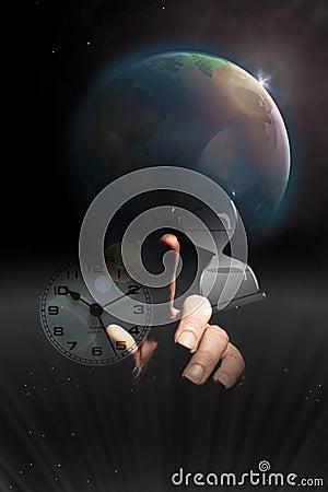 Steigende Erde-Zeit