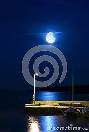 Steigender Mond