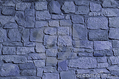 steinwand blaue farbe
