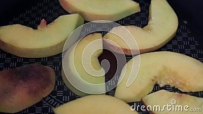 Steka persikor lager videofilmer