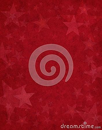 Stelle sottili su colore rosso