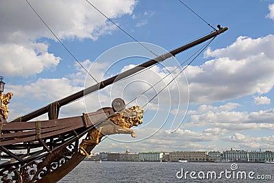 Stem of the ship