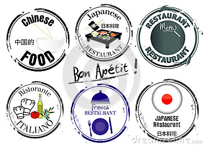 Stempel der Restaurants