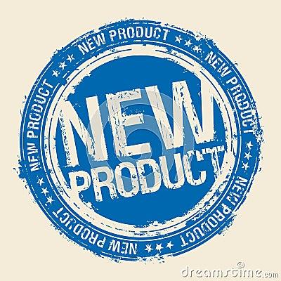 Stempel des neuen Produktes.