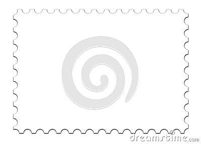 Stemplowy blank szablonu white