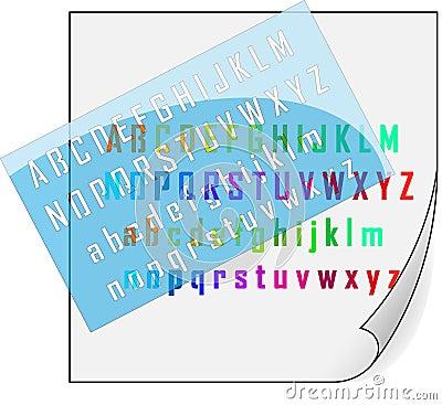 Stencil and alphabet