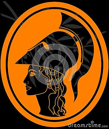 Stencil of athena profil