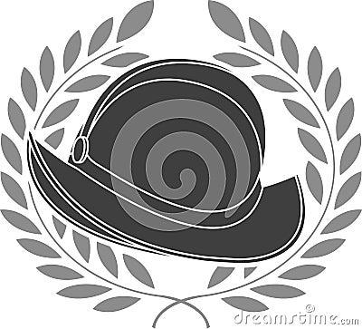 Stencil of conquista helmet