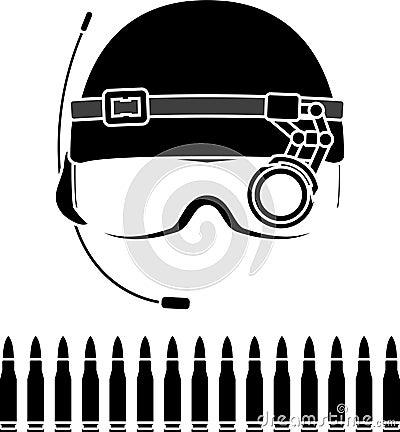 Stencil of kombat helmet