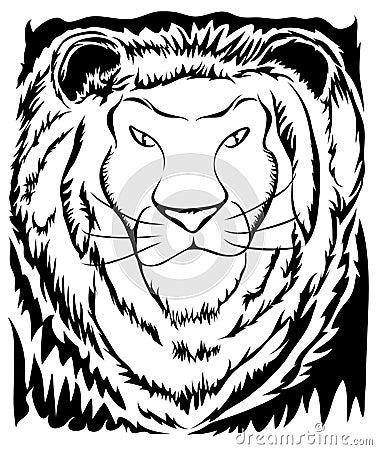 Stencil Lion