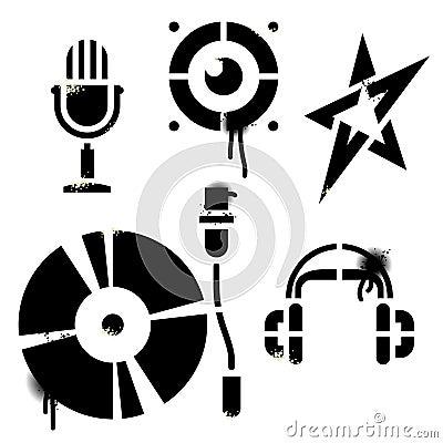 Stencil music icons