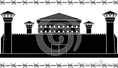 Stencil of prison