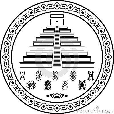Stencil of pyramids and symbols