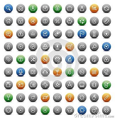 Stencil round buttons