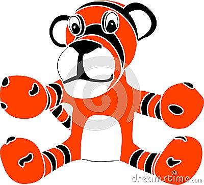 Stencil of toy tiger cub