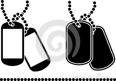 Stencils of dog tags Vector Illustration