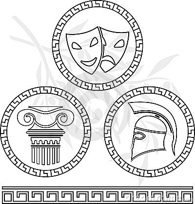 Stencils of hellenic images