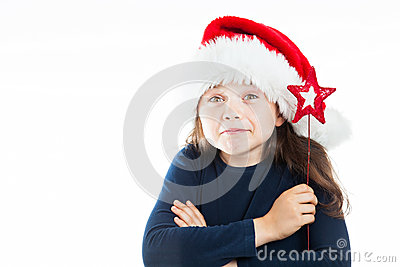 Stående av lite att truta julflickan