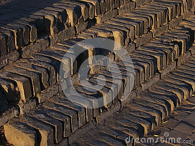 Step of brick