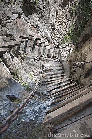 Step built in cliff