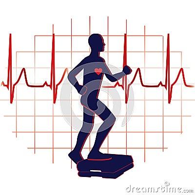 Step exercise icon