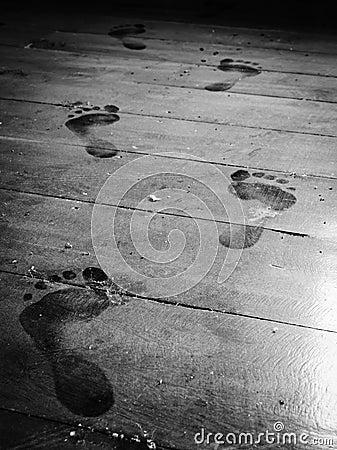 Free Step Forward On Dusty Floor Stock Photography - 29793312