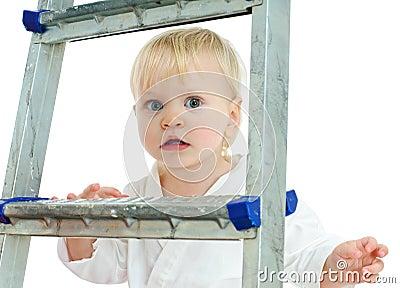 On step ladder