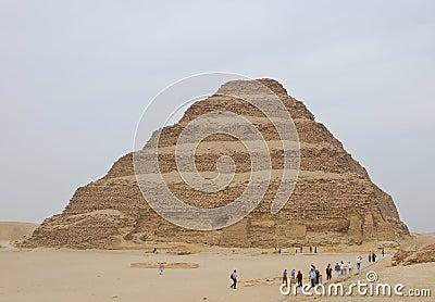 Step pyramid of Djoser Editorial Stock Image