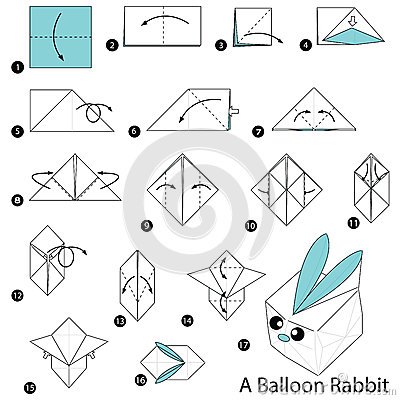 89 Origami Rabbit Vector Step By Instructions How To Make Origami