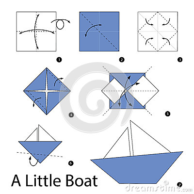 step by step instructions how to make origami a boat
