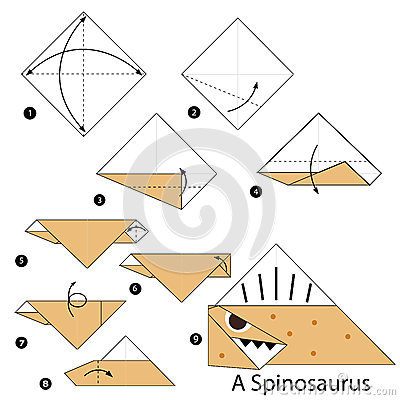 origami dinosaur step by step instructions