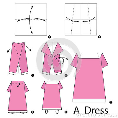 How to make an origami dress: page 1 | 400x400