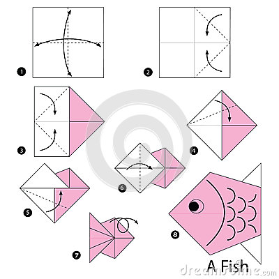 Step by step instructions how to make origami a fish for What sound does a fish make