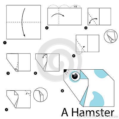 Stock Illustration Step Step Instructions How To Make Origami Hamster Image67396272 on Audio Production Group