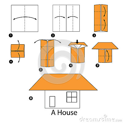 Step By Step Instructions How To Make Origami A House