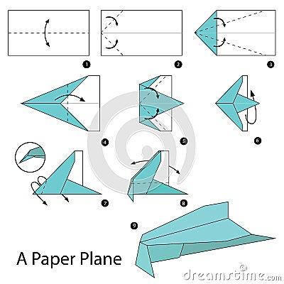 Order a paper aeroplane steps