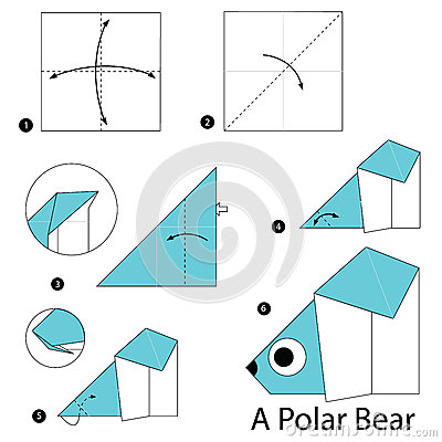 Step By Step Instructions How To Make Origami A Polar Bear ... - photo#5