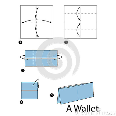 Easy Origami Wallet Instructions - Diagram: Easy Origami Wallet Instructions Learn how to make a useful origami wallet that you can put real money into, using one sheet of rectangular paper, this is a quick and easy origami model to learn, great for kids and adults!